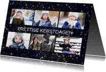 Kerstkaart met 6 foto's en sterren effect