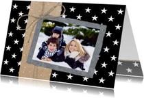 Kerstkaarten - Kerstkaart Sterren Papier Foto