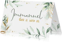 Kerstkaart waterverf Immanuel