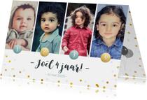 Kinderfeestje fotocollage uitnodiging 4 jaar met 4 foto's