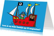 Kinderfeestje jongen piraat foto stoer