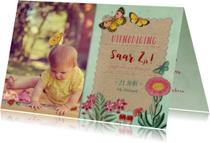 Kinderfeestjes - Kinderfeestje met vlinders en bloemen