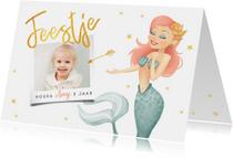 Kinderfeestje zeemeermin met foto en sterren