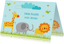 Kinderkaart dieren