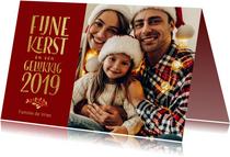 Kerstkaarten - Klassieke rode kerstkaart met foto