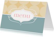 Kleurige menukaart