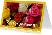 Kleurrijke rozen felicitatie