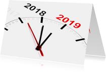 Klok telt af naar 2019