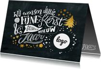 Zakelijke kerstkaarten - Krijtbord lettering kerstkaart