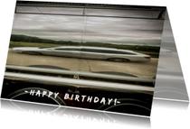 Verjaardagskaarten - lange auto