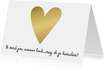 Liefdekaart gouden hart