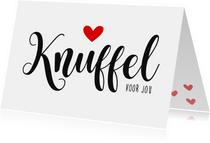 Liefde kaarten - Liefdeskaart Knuffelkaart