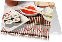 Menu sushi