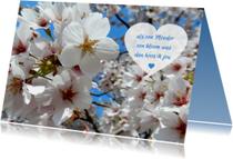 Moederdag kaarten - Moederdag bloesem hart