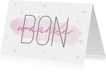 Moederdagkaart 'Waardebon' met confetti en waterverf