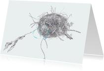 Kunstkaarten - Nestje puttertje