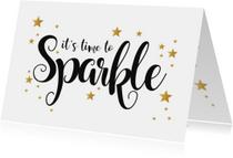 Nieuwjaarskaarten - Nieuwjaarskaart let's sparkle