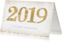 Nieuwjaarskaart met 2019 in dierenprint