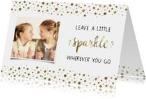 Nieuwjaarskaart Sparkle, met foto - WW