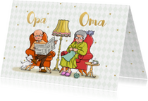 Opa en Oma dag fauteuil av