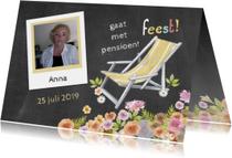 pensioen uitnodiging ligstoel
