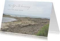Rouwkaarten - rouwkaart grillig strand