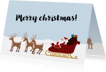 Kerstkaarten - Rudolph en kerstman - SV