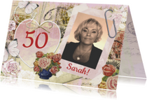 Verjaardagskaarten - Sarah vintage hart