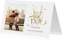 Save the Date Kerstkaart foto