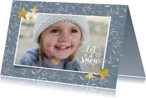 Sfeervolle kerstkaart met 1 foto