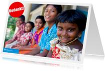 SOS kinderdorpen bedankkaart
