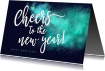 Spetterende Nieuwjaarskaart Cheers