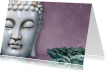 Spirituele kaart Boeddha wit