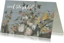 Sterkte kaart met mooie pastelkleurige bloemen