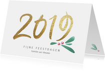 Kerstkaarten - Stijlvolle kerstkaart 2019 kerst takje