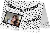 Verjaardagskaarten - Stippen Slinger Happy Birthday F