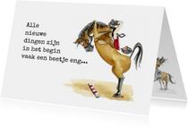 Succes kaarten - Succes kaarten  springend paard