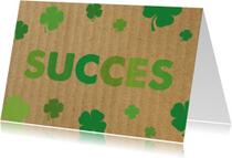Succes kaarten - Succeskaart klavertjes, succes
