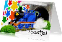 Kinderfeestjes - Trein uitnodiging