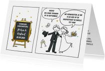 Trouwkaart striptekening