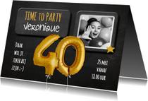Uitnodigingen - Uitnodiging 40 jaar Ballon - SG