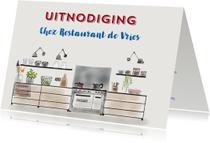 Uitnodigingen - Uitnodiging etentje Chez Restaurant II