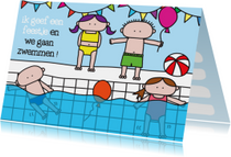 Kinderfeestjes - Uitnodiging Kinderfeestje Zwem