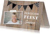 Uitnodiging pensioen kraft foto slinger