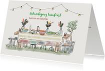 Uitnodigingen - Uitnodiging tuintafel