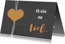 Valentijnskaarten - Valentijn krijtbord lief