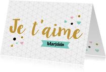 Valentijnskaart Franse tekst