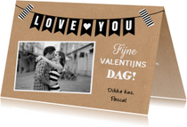 Valentijnskaart kraft foto slinger