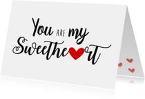 Valentijnskaart sweetheart