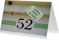 Verjaardagskaarten - Verjaardag, 52 jaar, huisnummer